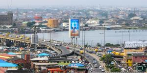 A commercial urban town in Lagos Nigeria