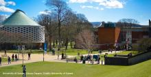 photo of Library Square on University of Sussex campus